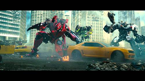 Cảnh đập phá xế hộp trong phim Transformers 3