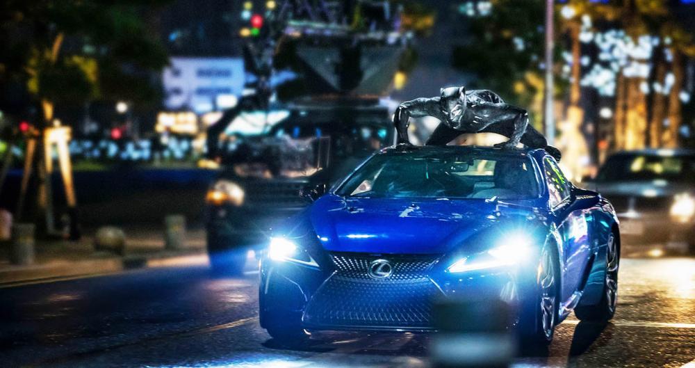 Lexus LC500 cũng Chiến binh báo đen xuất hiện cực chất