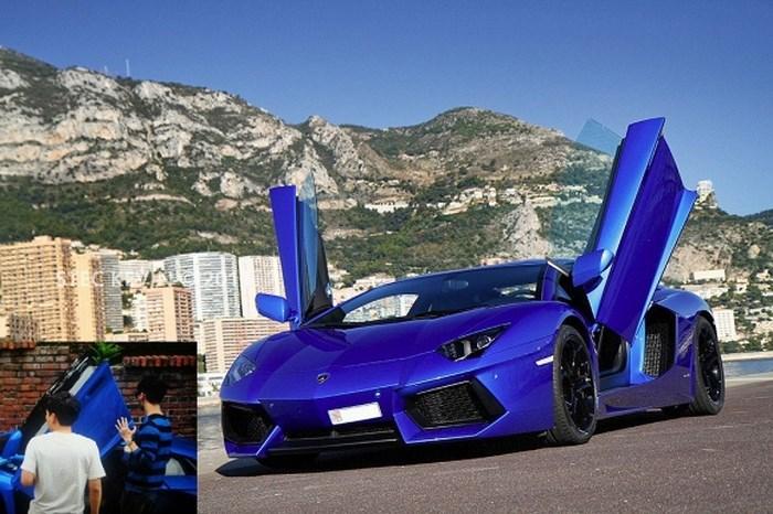 Lamborghini Aventador trị giá 12 tỷ đồng Junsu